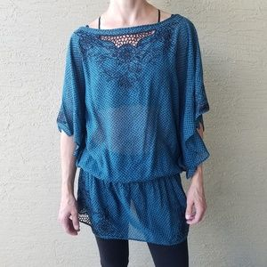 Free People loose flowy tunic top size small